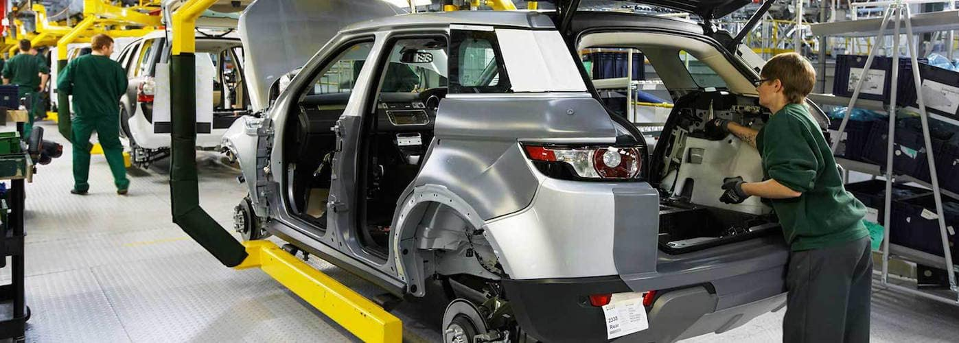 Land Rover manufacturing plant