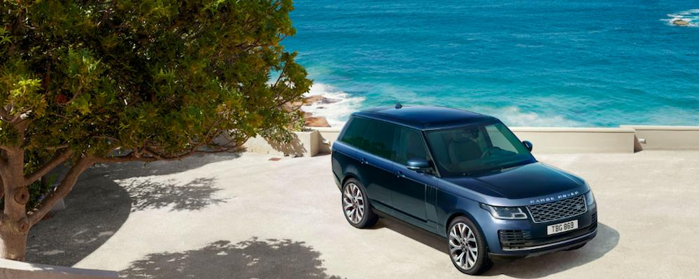 2021 Range Rover HSE Westminster parked near ocean