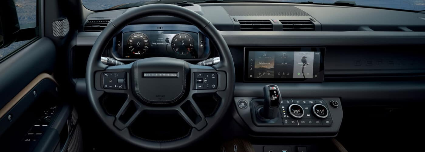 2021 Land Rover Defender steering wheel and touchscreen