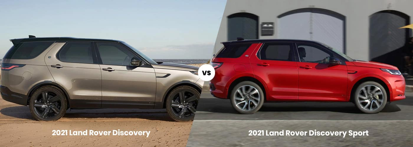 2021 Land Rover Discovery vs. 2021 Land Rover Discovery Sport