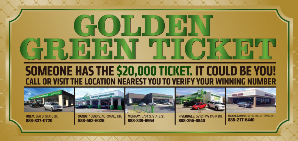 Used Cars Golden Green Tickets Sales Event