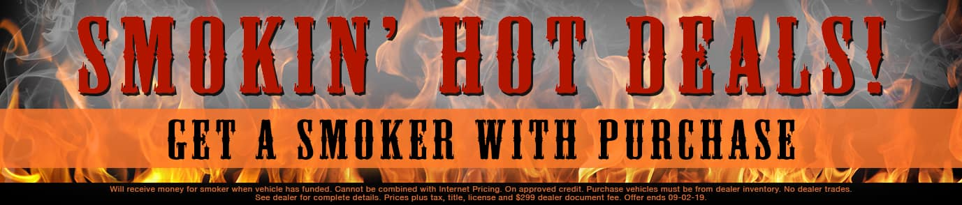 Smokin' Hot Deals - Smoker With Purchase
