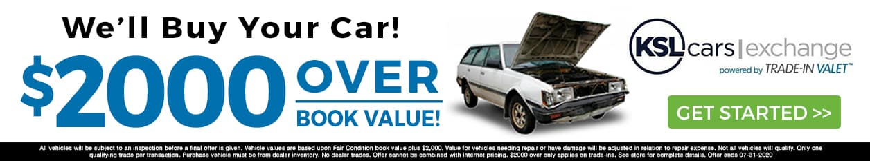 We'll Buy Your Car for $2000 Over Book Value