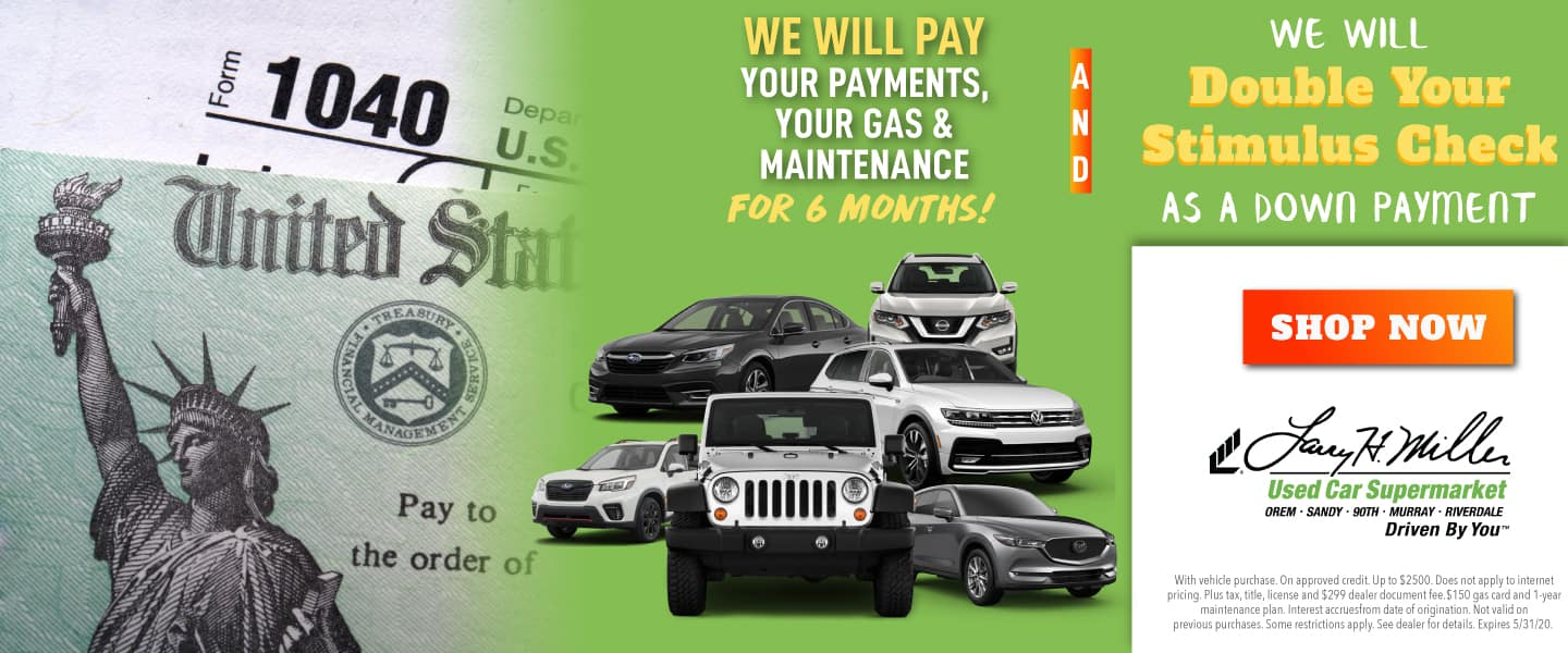 We'll Double Your Stimulus Check, Pay Your Payments, Gas & Maintenance for 6 Months