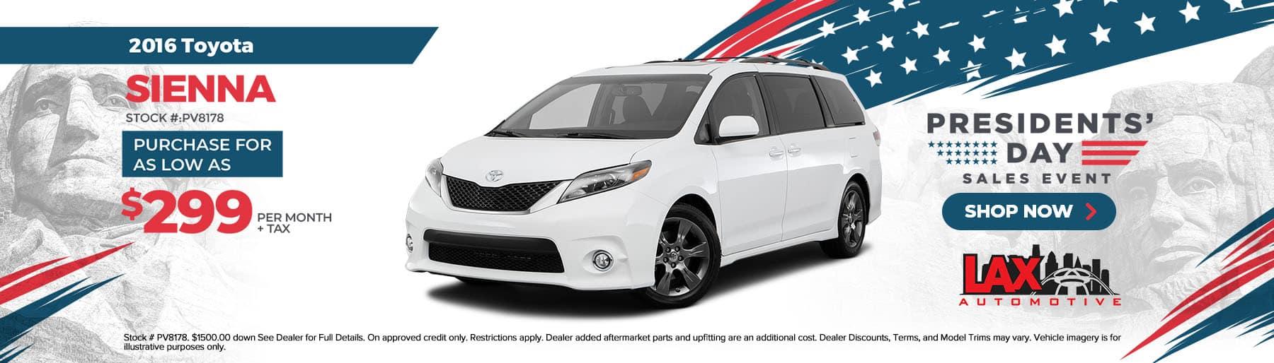 2021-02-Lax Automotive_Slide-1800×514 – 2016 Toyota Sienna