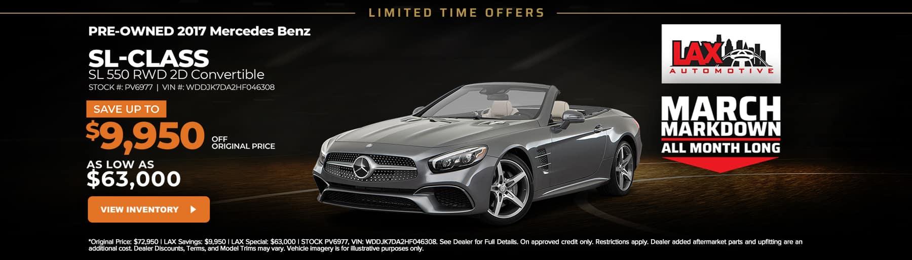 Slide-1800×514 – 2017 Mercedens Benz SL- Class SL 550 RWD 2D Convertible