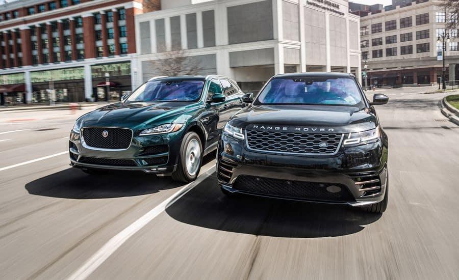 CARSANDDRIVER: Jaguar F-Pace Vs. Range Rover Velar