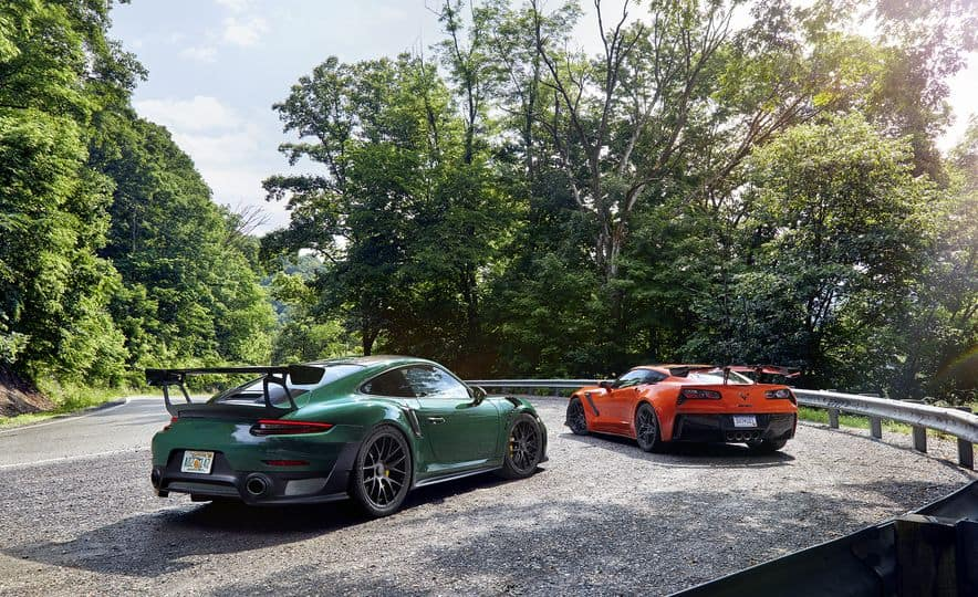 Caranddriver 2019 Chevrolet Corvette Zr1 Vs 2018 Porsche 911 Gt2 Rs Luxury Auto Collection