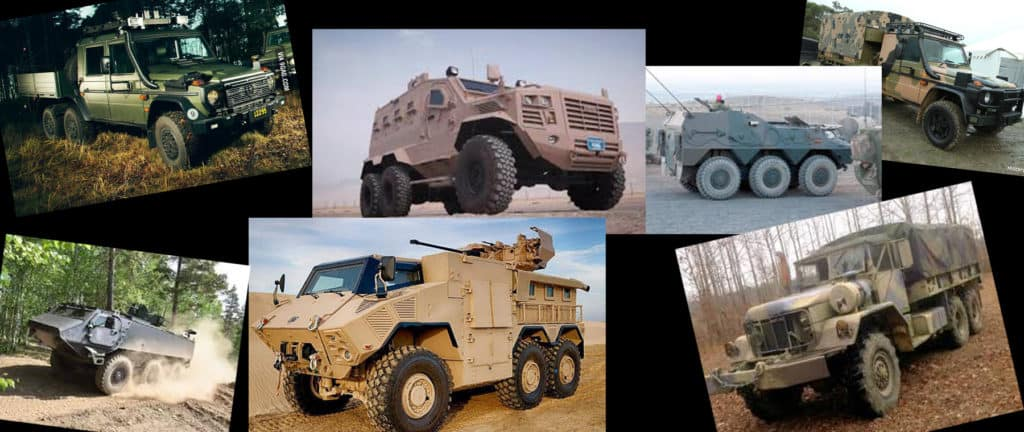 Multiple Examples of Military 6X6