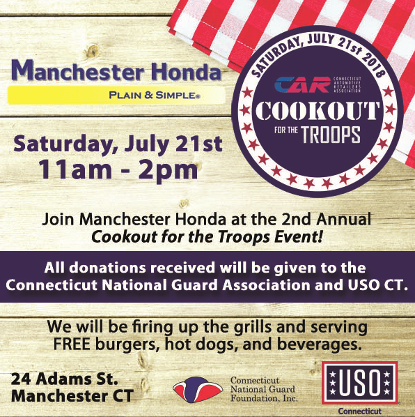 Cookout for the troops event