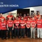 Manchester Honda Employee Volunteers