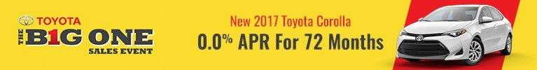 0.0% APR for 2017 Corolla