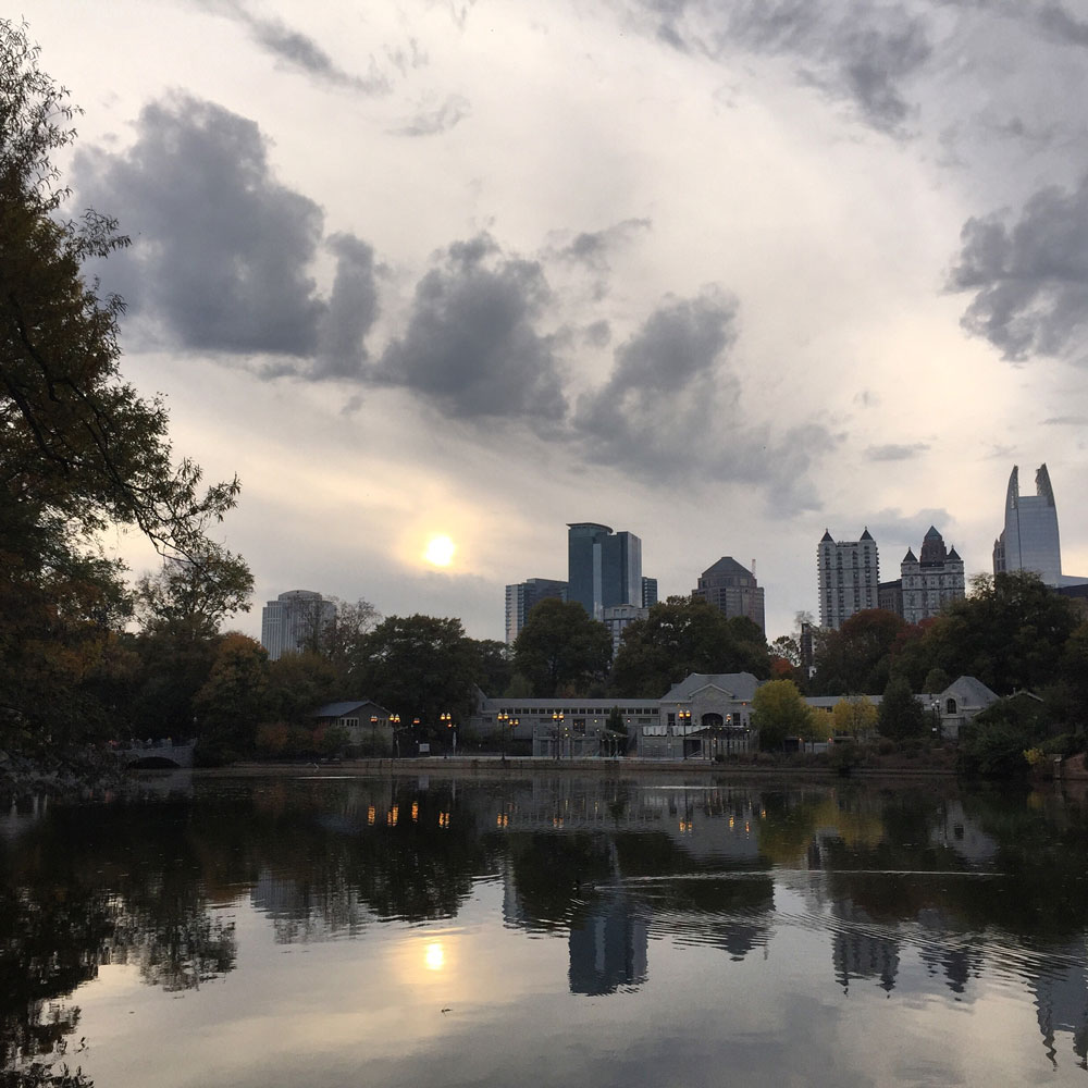 Piedmont Park Atlanta Skyline