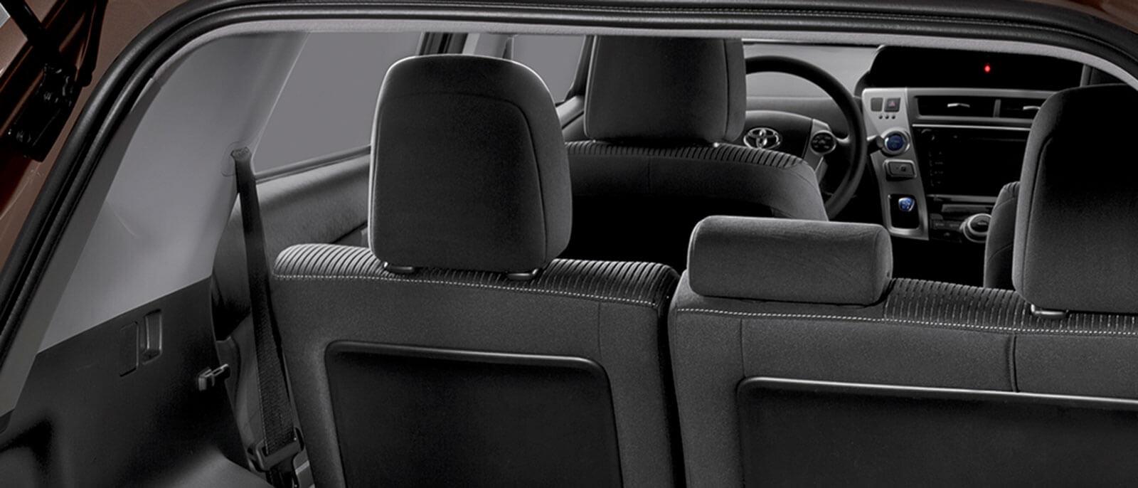 2017 Toyota Prius v interior seating