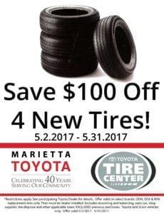 Toyota Tire Sale Marietta Toyota Marietta GA