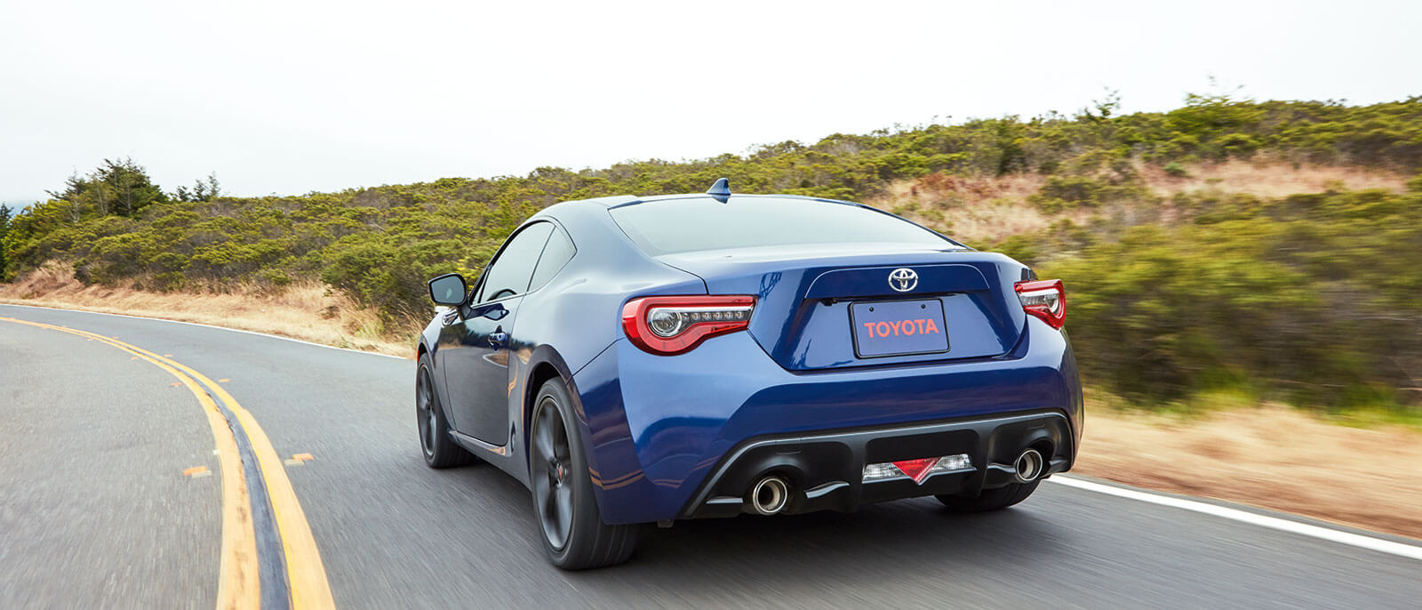 2017 Toyota 86 rear view on highway