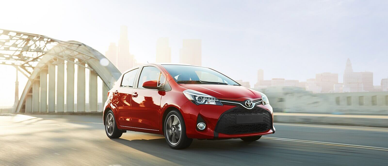 2017 Toyota Yaris in the city