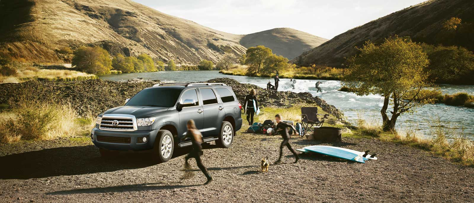 2017 Toyota Sequoia at the beach