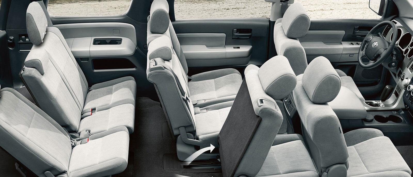 2017 Toyota Sequoia interior seating