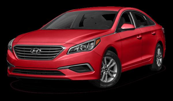 2017 Hyundai Sonata red exterior model