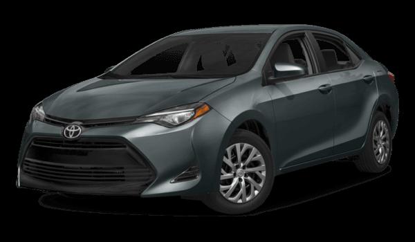 2017 Toyota Corolla dark exterior model
