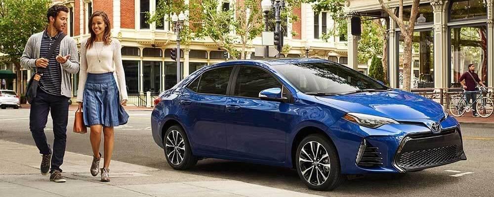 2017 Corolla blue exterior model