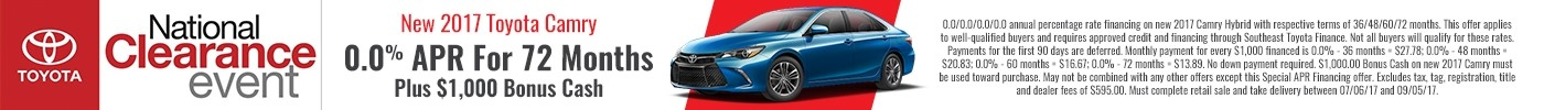 Camry National clearance banner