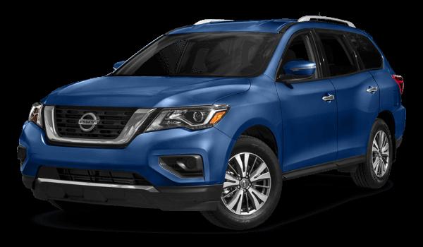 2017 Nissan Pathfinder blue exterior