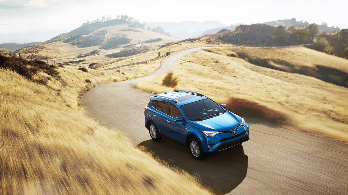 2018 Toyota RAV4 blue exterior model