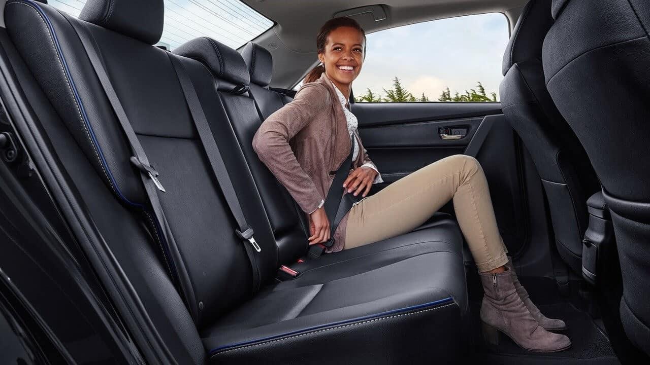 2017 Toyota Corolla Back Seat