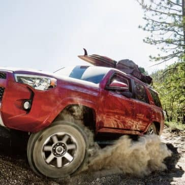 2018 Toyota 4Runner red exterior model