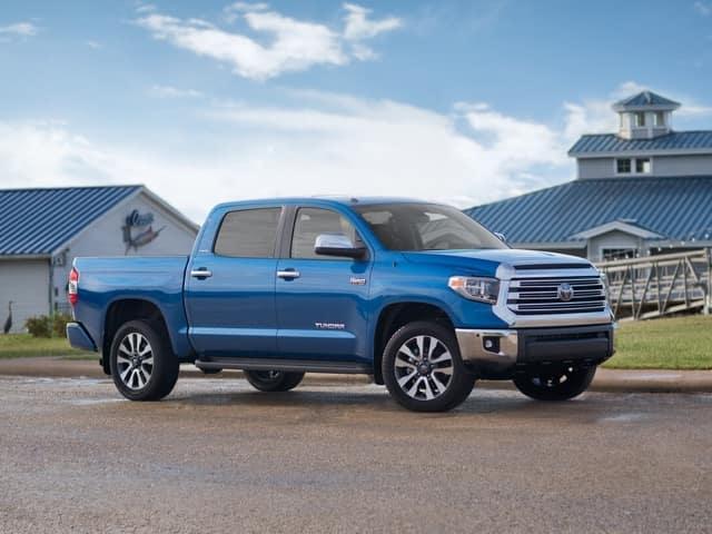 2018 Toyota Tundra blue exterior model