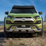 Future Toyota Adventure Concept lime green exterior
