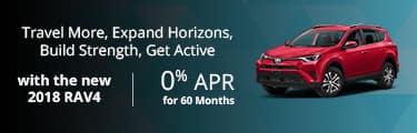 2018 Toyota RAV4 0% for 60 Mos