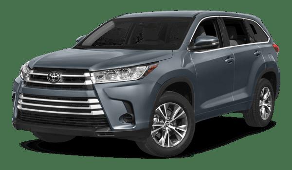 2018 Toyota Highlander white background