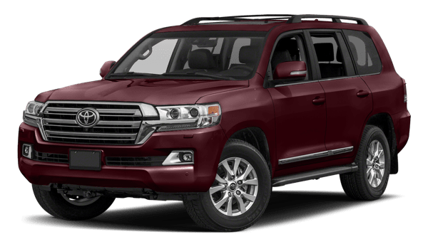 2018 Toyota Land Cruiser white background