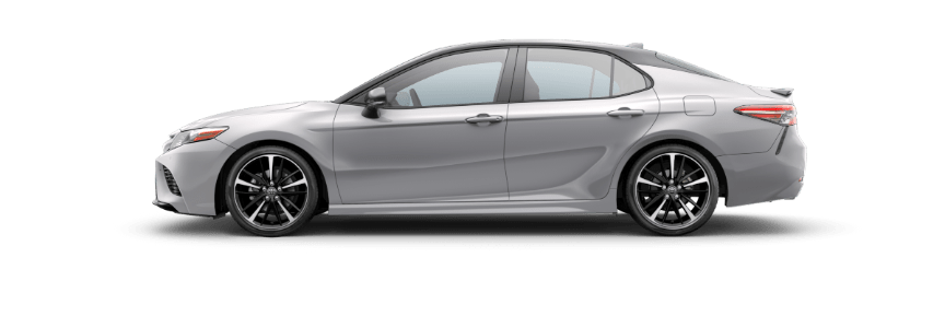 2018 Toyota Camry Celestial Silver Metallic with Midnight Black roof and spoiler