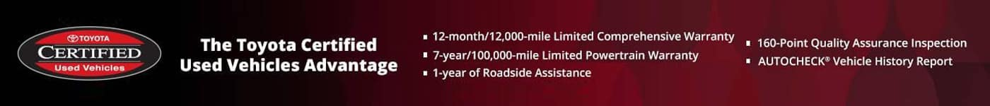 Toyota Certified Used Vehicle Advantage
