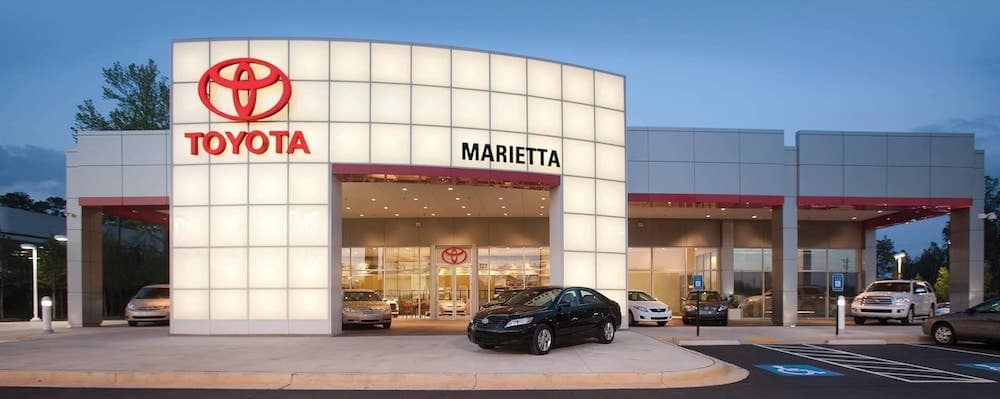 Marietta Toyota dealership exterior view