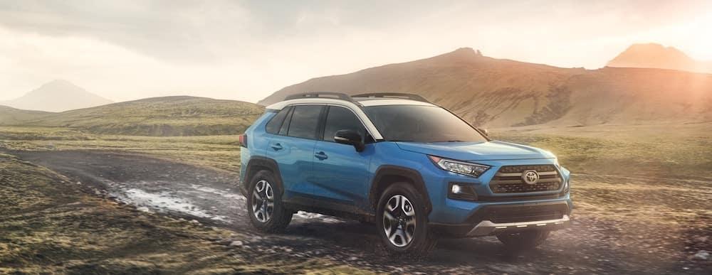 2019 Toyota RAV4 Adventure in muddy terrain