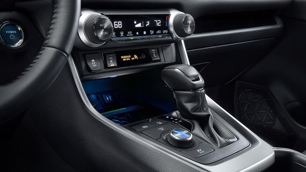 2019 Toyota RAV4 Interior shifter and infotainment display