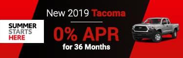 2019 Tacoma 0% APR