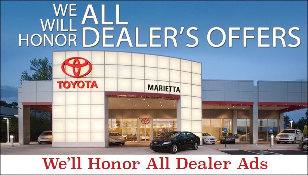 We'll Honor All Dealer Ads