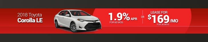 August Corolla Special
