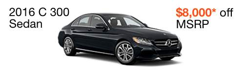 2016 C 300 $8,000 off MSRP--enable images to see more