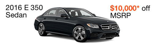 2016 E 350 $10,000 off MSRP--enable images to see more