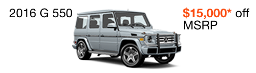 2016 G 550 $15,000 off MSRP--enable images to see more