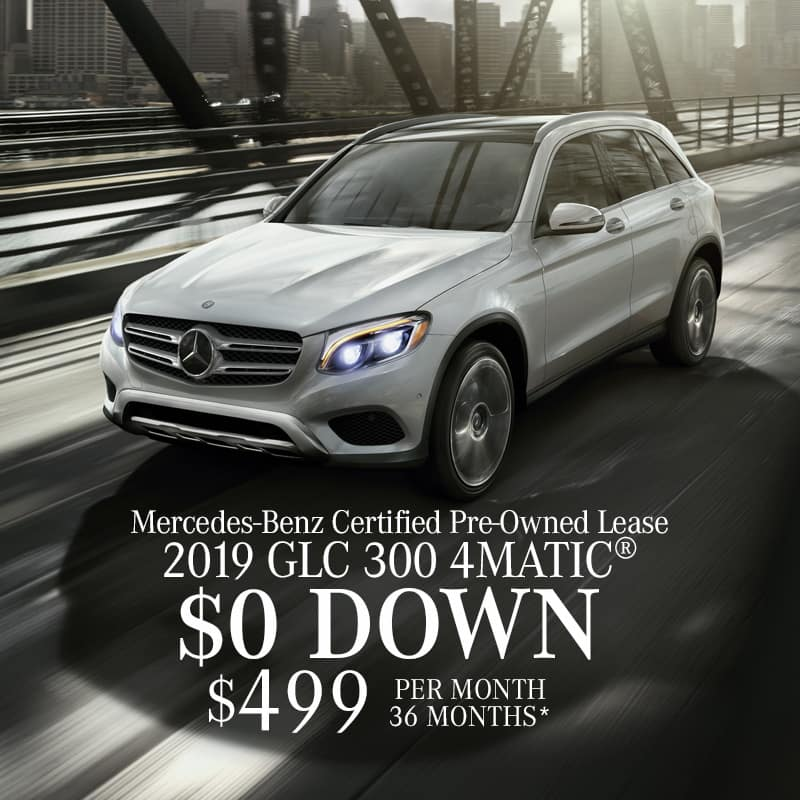 SPOTLIGHT OFFER!  Lease a Certified Pre-Owned 2019 GLC300 4MATIC®