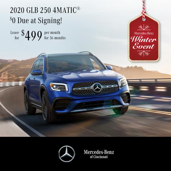 2020 GLB 250 4MATIC® Lease $0. Due at Signing! $499. Per Month   36 Months