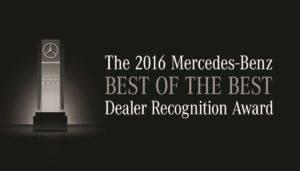 Mercedes-Benz of West Chester, Ohio—Recipient of the 2016 Best of the Best Dealership